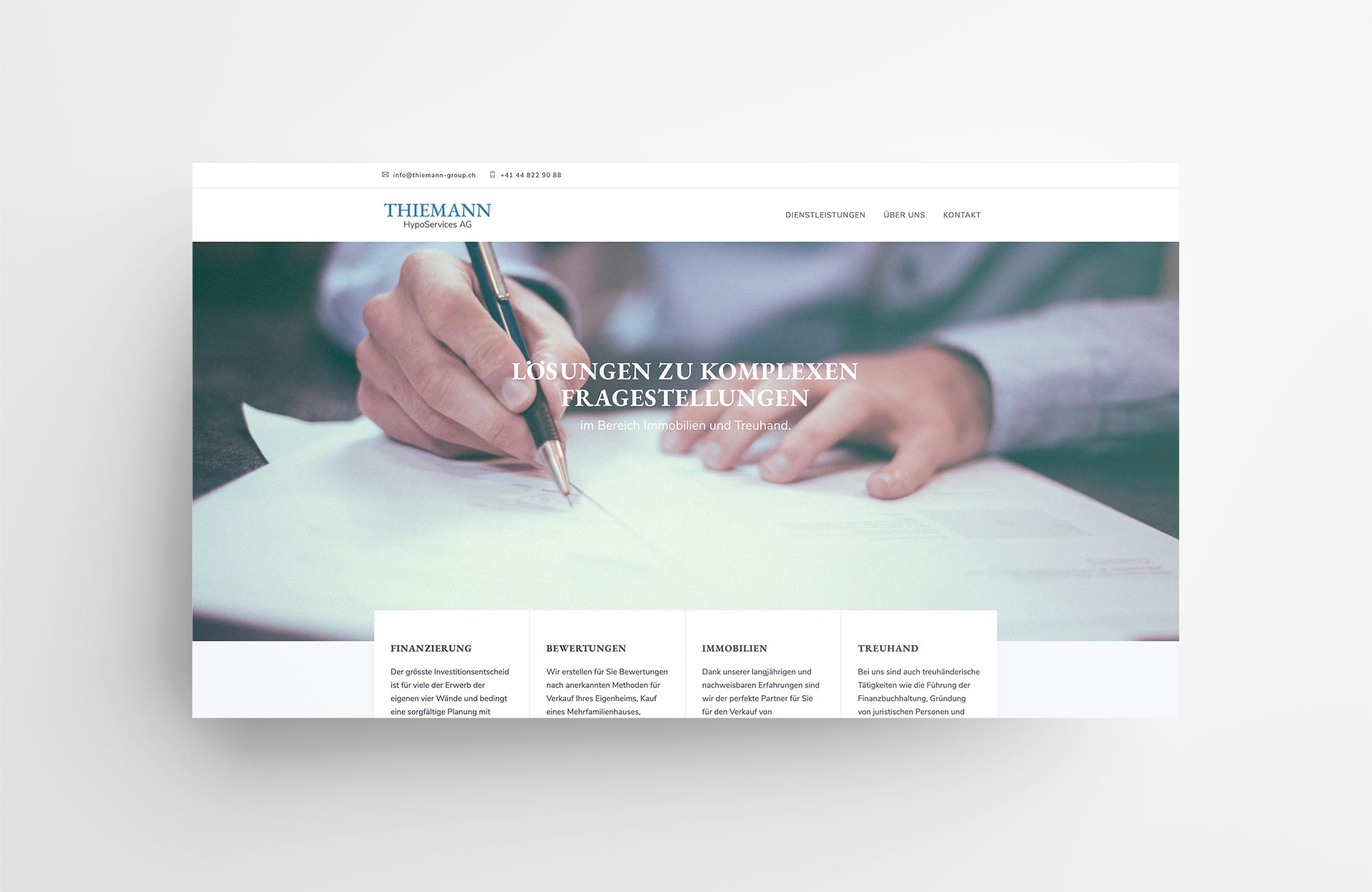 Thiemann HypoServices AG | Website
