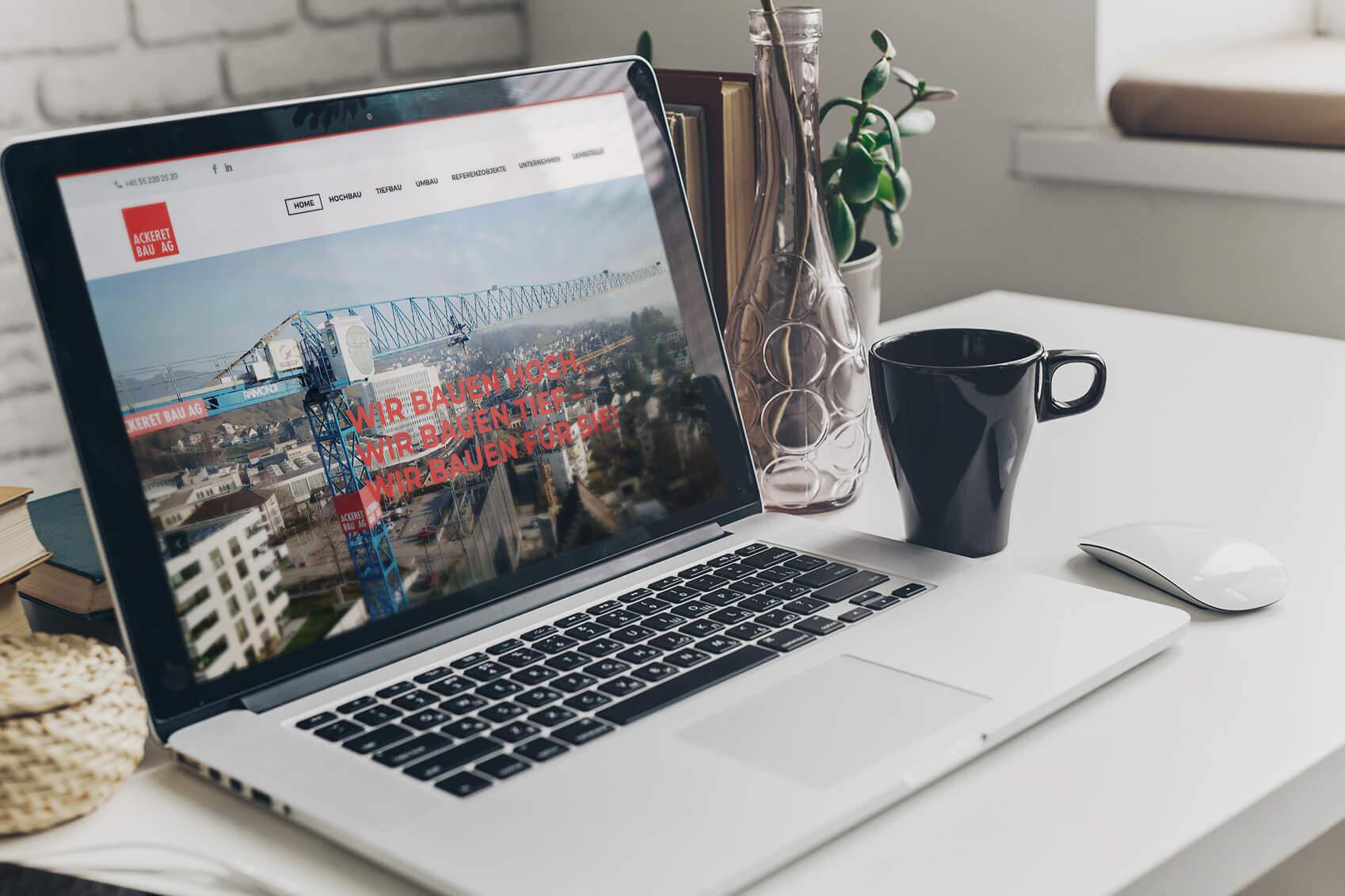Ackeret Bau AG Webseite