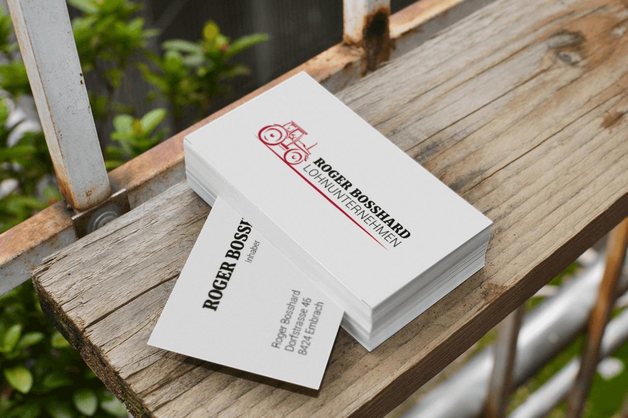 Roger Bosshard Corporate Design Visitenkarte