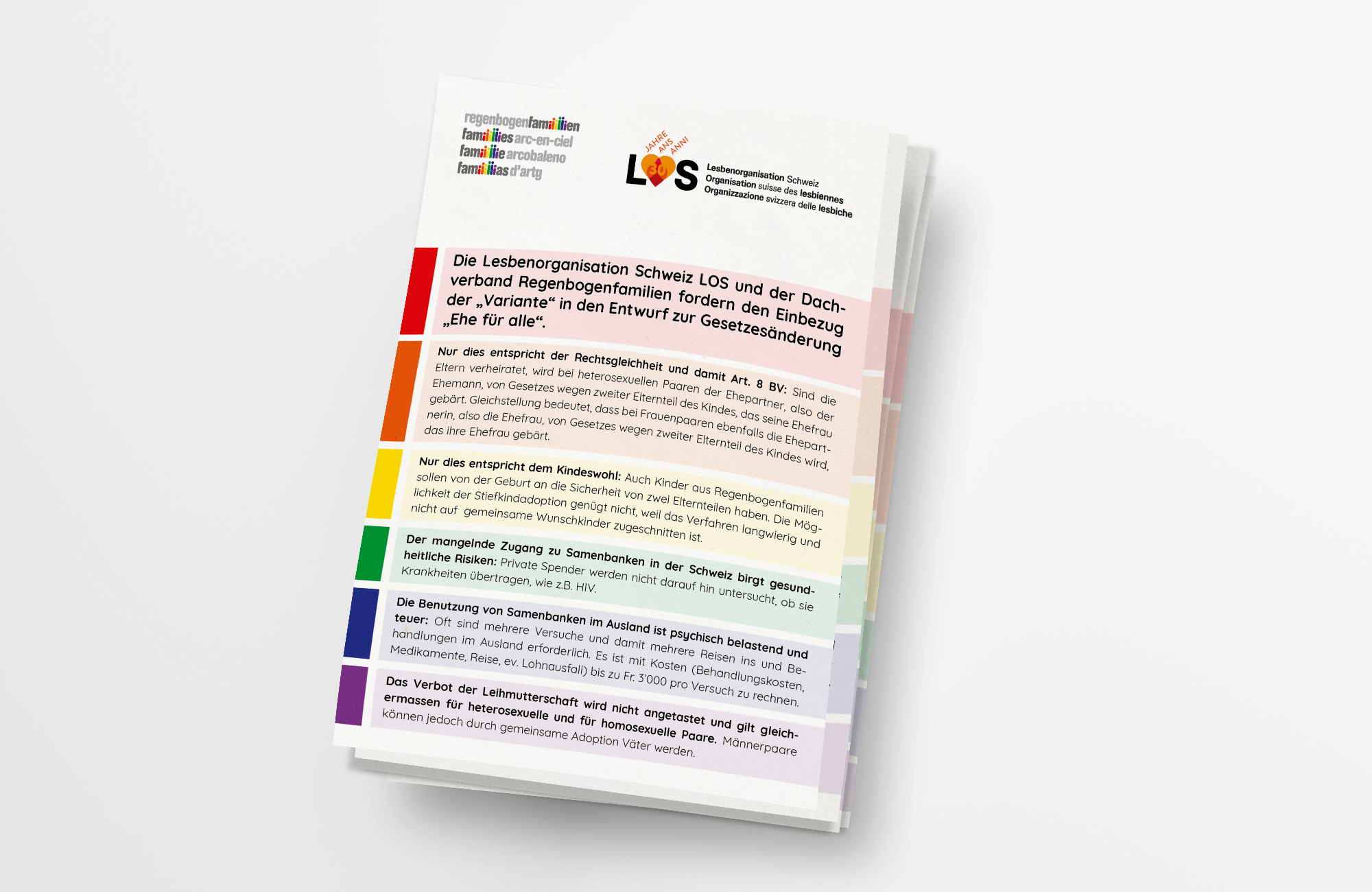 Dachverband Regenbogenfamilien | Flyer