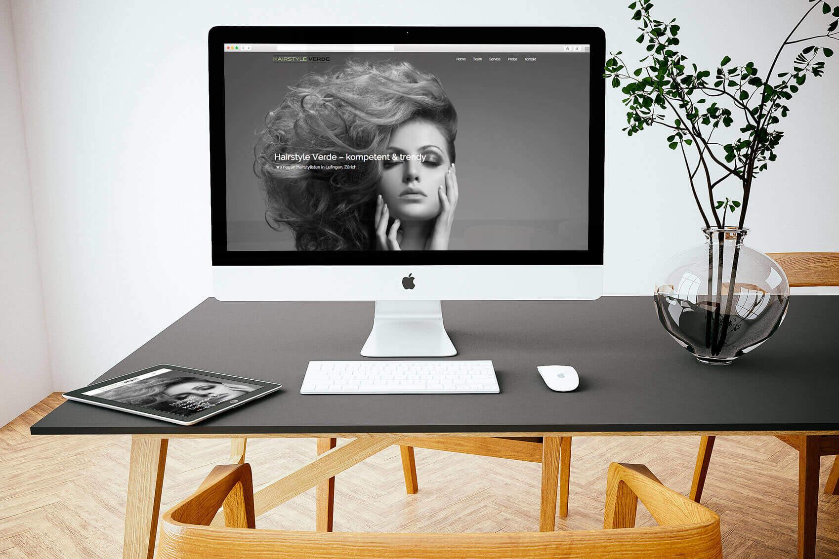Werbeagentur Diener Design: Hairstyle Verde
