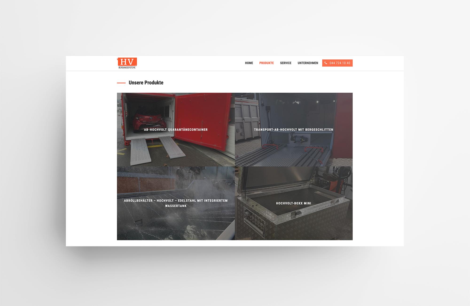 HV Bergungssysteme | Website