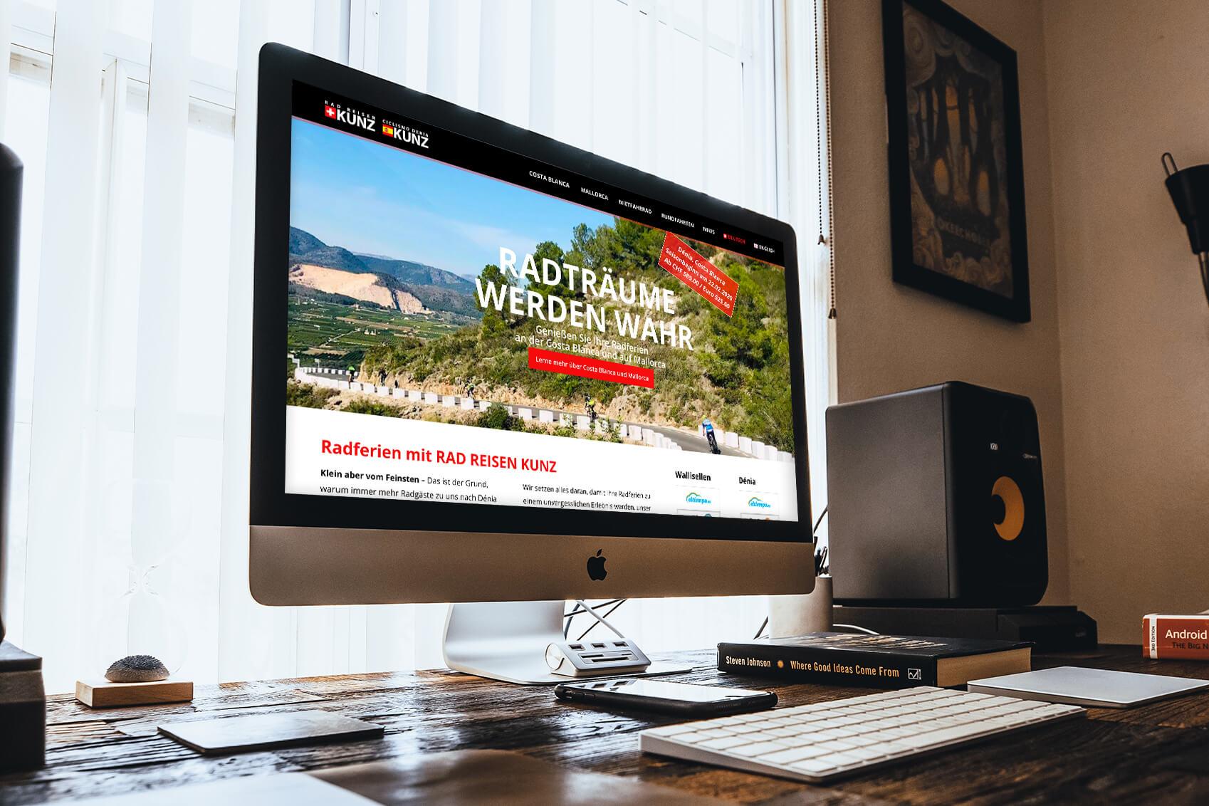 Rad Reisen Kunz Website