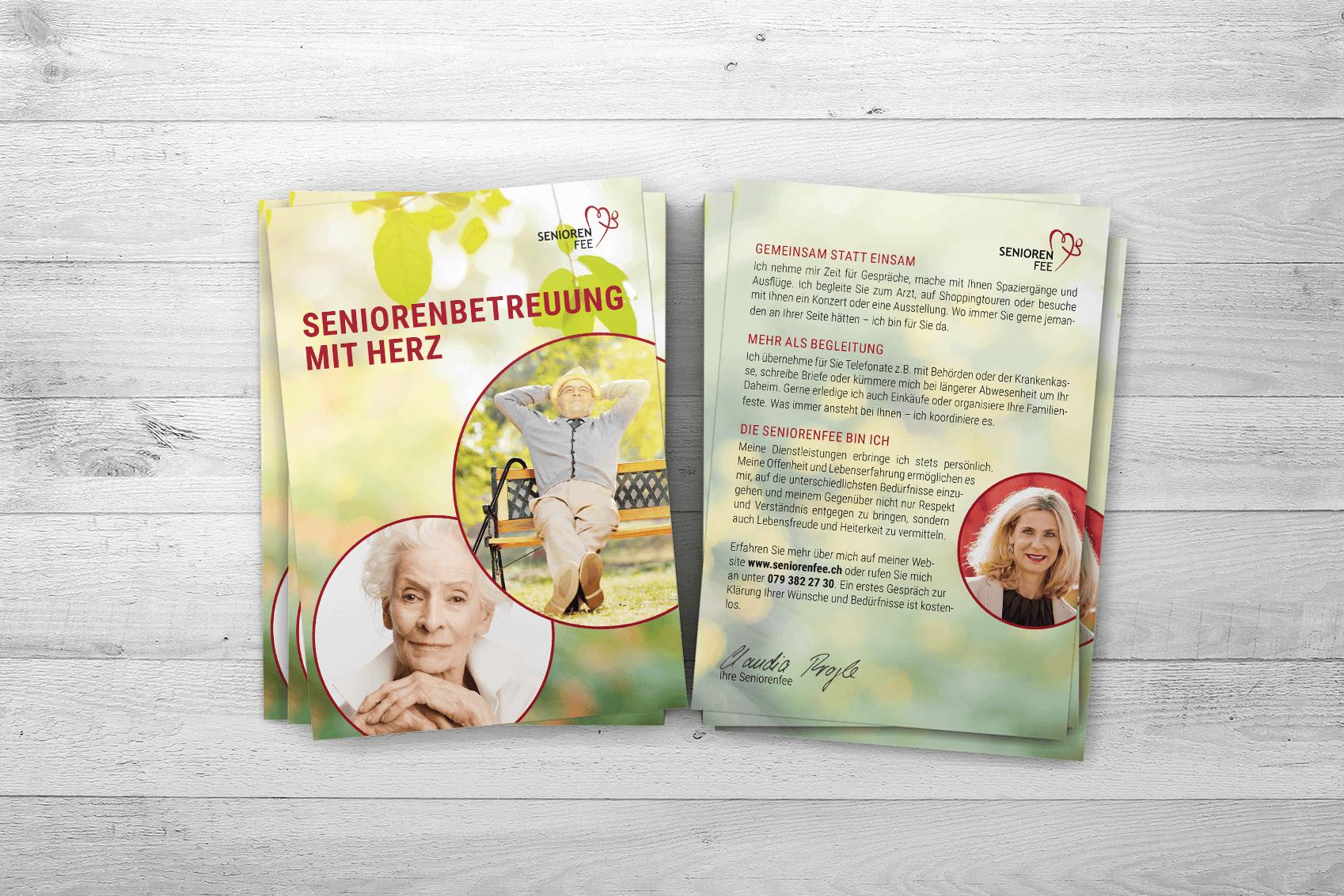 Neuer Flyer für Seniorenfee
