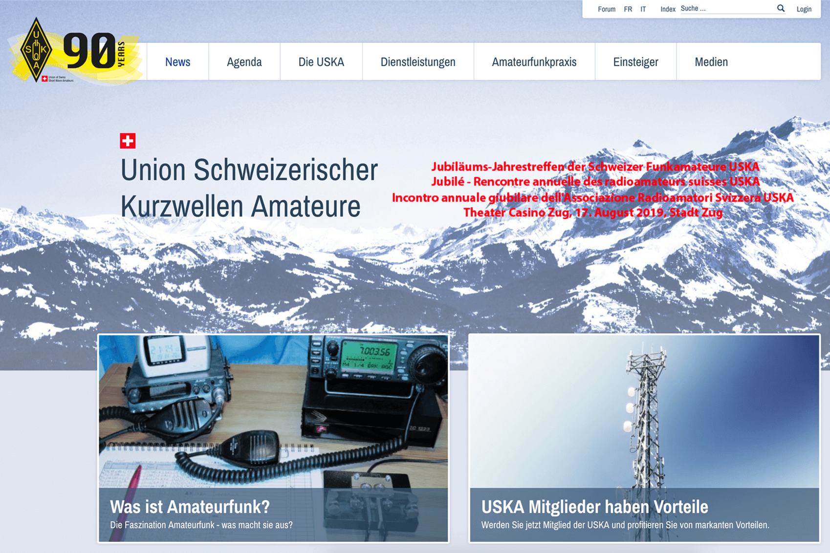 USKA 90 Jahr Jubiläumslogo / Corporate Design