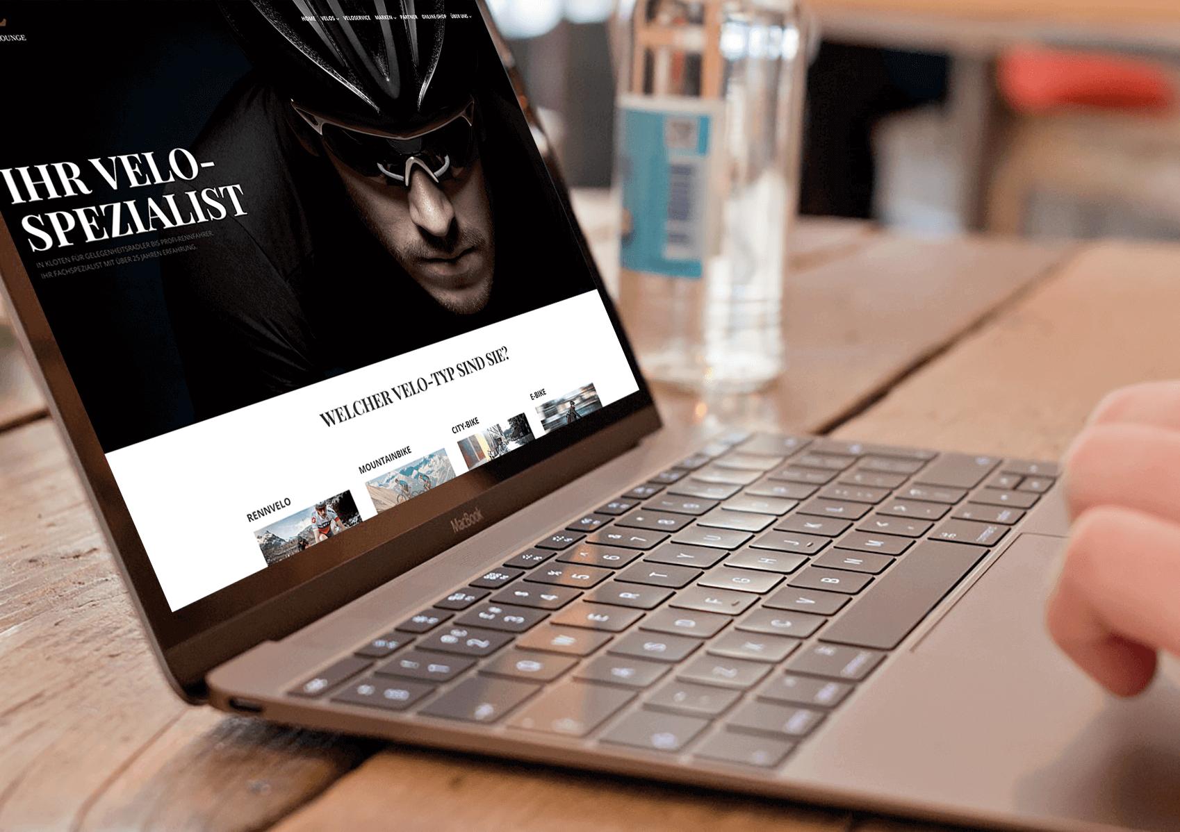 Velolounge Webseite