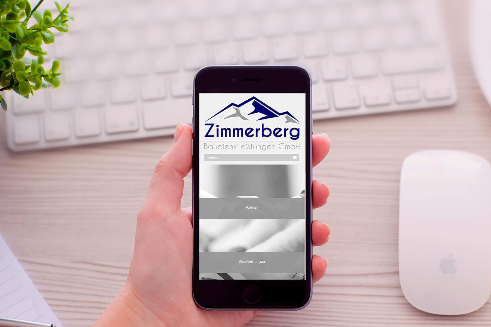 Zimmerberg Baudienstleistungen GmbH Webseite