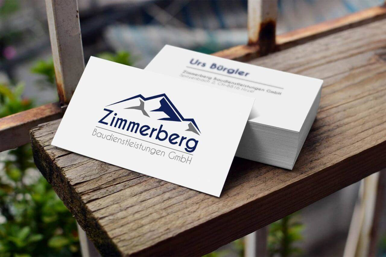 Zimmerberg Baudienstleistungen GmbH Visitenkarte
